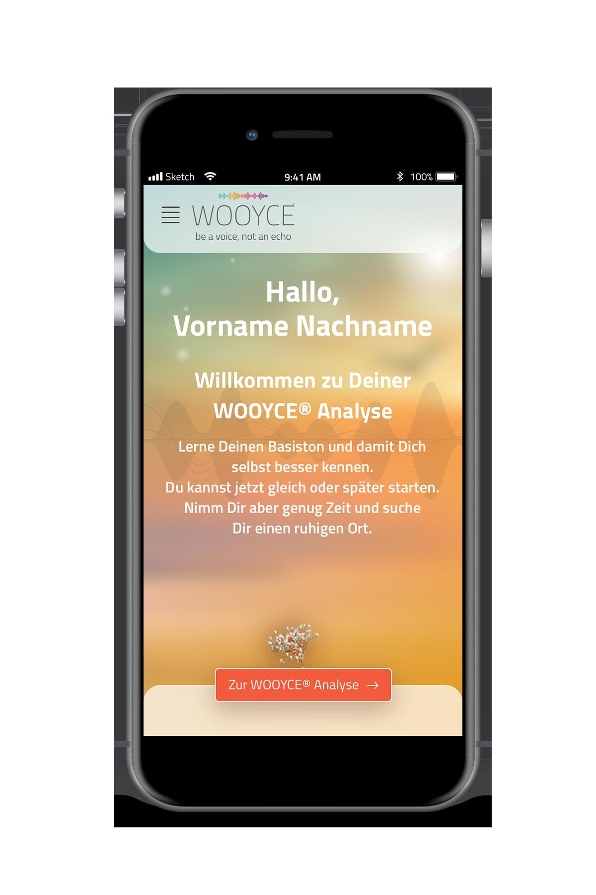 WOOYCE App auf Smartphone